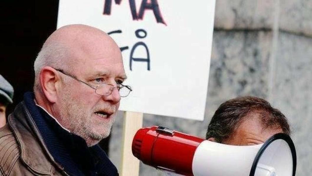 Fagforeningsleder Lars Johnsen roper på flere godstog.
