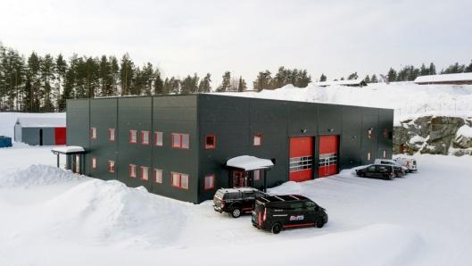 STORT: Det nye bygget i Modum er 1300 kvadratmeter stort.