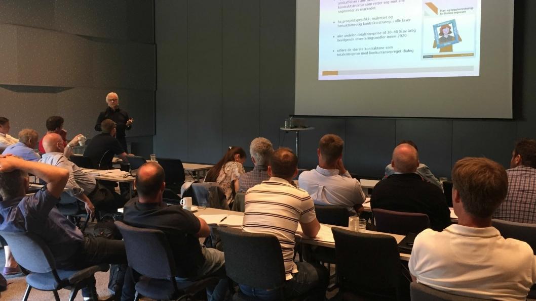 Da Vegvesenet ved veiavdeling Oppland og Vegdirektoratet inviterte til dialogkonferanse på Gardermoen i uke 22 2018, villeåtte entreprenørbedrifter være med på utviklingen av denne nye typen entreprise.