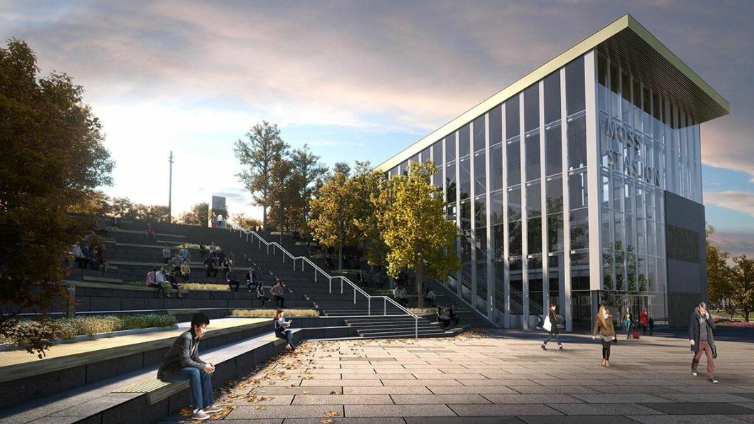 Nye Moss stasjon, slik den skal se ut i 2024.