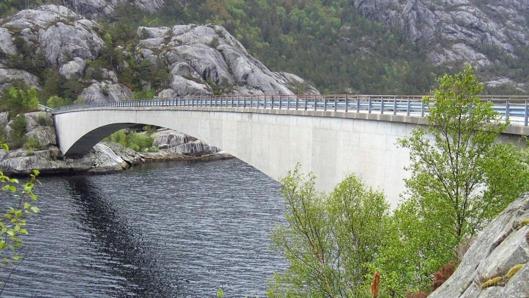 Innovasjon Norge gir blant annet støtte til å utvikle ny tekologi i forbindelse med bygging og vedlikehold av bruer. Illustrasjonsbilde.