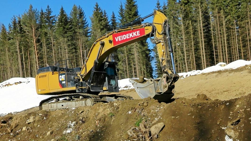 Veidekke har store utfordringer med lønnsomheten i flere anleggsprosjekter.