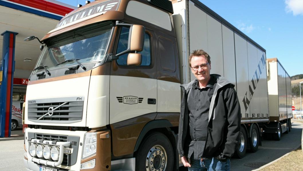 For Charles Galaasen er lastebilen hjertet i transport- og logistikkvirksomheten. Foto: Per Dagfinn Wolden