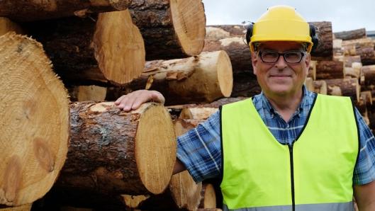 Røntgen sorterer tømmeret bedre, sier direktør Knut Berg i Moelven Våler AS.