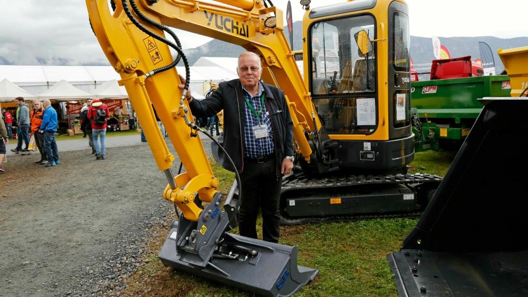 Daglig leder i Hako Maskin AS, Terje Bergan Lien, avbildet på Dyrsku'n i Seljord september 2016 i anledning at selskapet hadde startet salg av kinesiske Yuchai-maskiner.