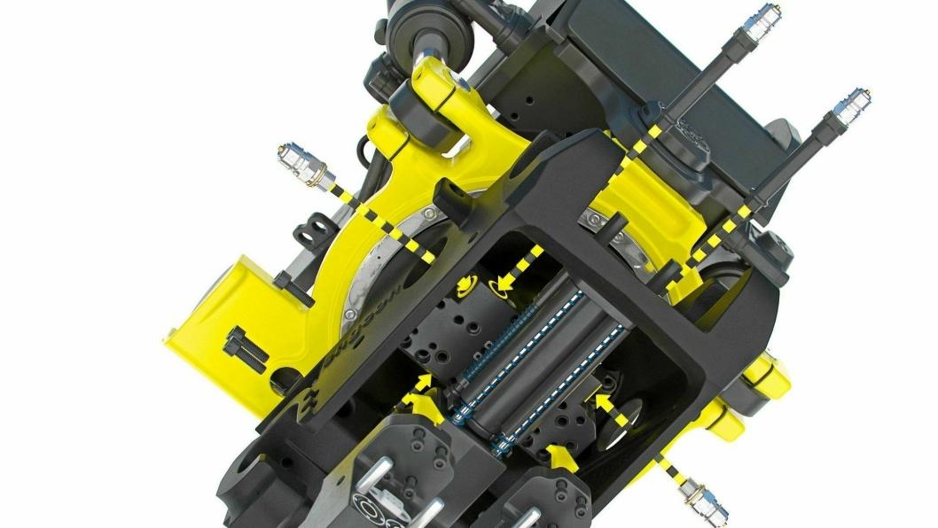 NYHET: Engcon med slangeløst modulsystem og høyflødessvivel -gjør tiltrotatoren mer servicevennlig og tillater høyere oljefløde