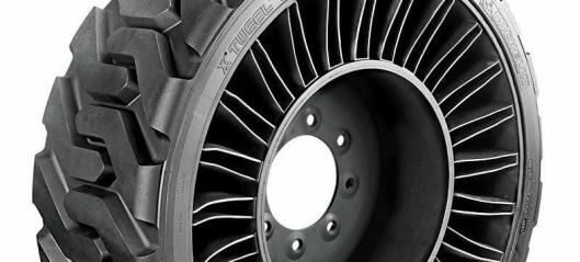 Luftløst radialdekk for kompaktlastere