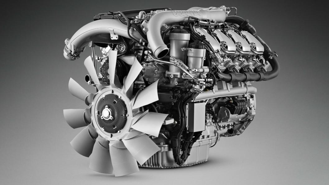 Produksjon, leveranse og salg er stoppet midlertidig opp hos Scania på grunn av streik hos en underleverandør. På bildet: DC16 Euro 6 V8.