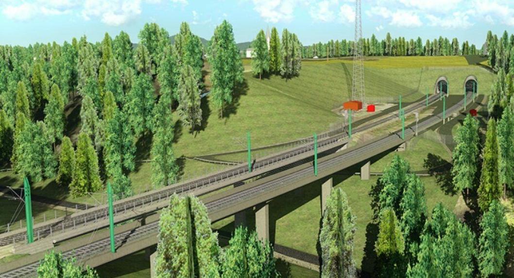 Ålborgvegen jernbanebru og løsmassetunnelen Wergelandstunnelen er en del av kontrakten for Venjar-Eidsvoll nord, og tas i bruk i 2022.