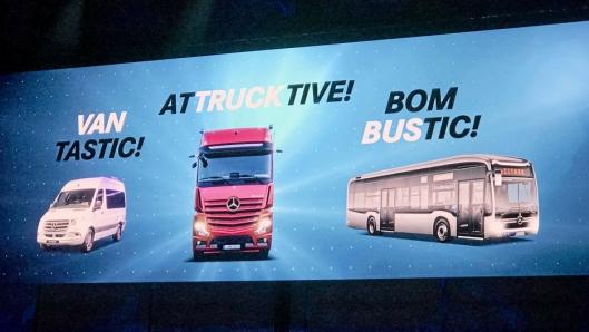 Bilde fra Daimlers førkveld før IAA 2018.