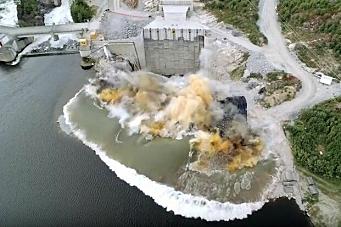 Her sprenges siste salve i Vamma kraftverk