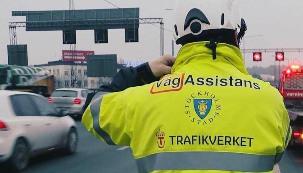 I Stockholmsområdet får veiassistanse nå benytte blålys.