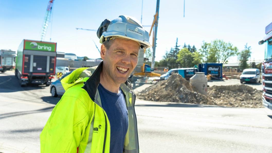 Peder Egeland, daglig leder i Nordic Bulk, jobber med lokale massemottak og vaskeanlegg som kan spare entreprenører for millioner av kroner.