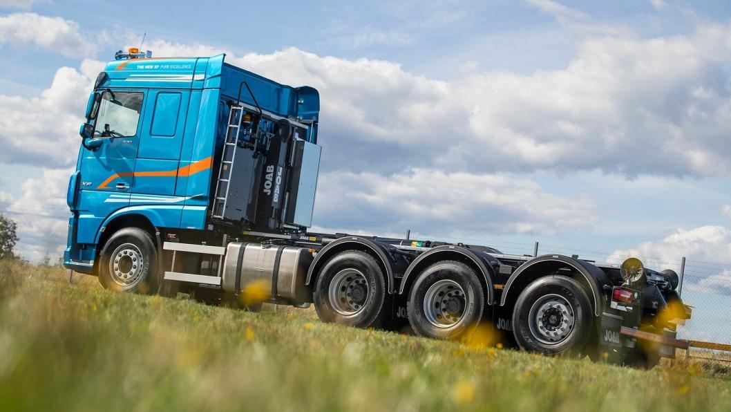 DAF presenterte en ny tridem i forbindelse med åpningen av den svenske messen Elmia Lastbil 2018.