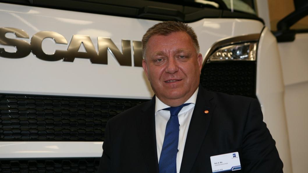 Geir A. Mo, adm. direktør i Norges Lastebileier-Forbund (NLF) vil ha krav om digitale fraktbrev i transportbransjen.