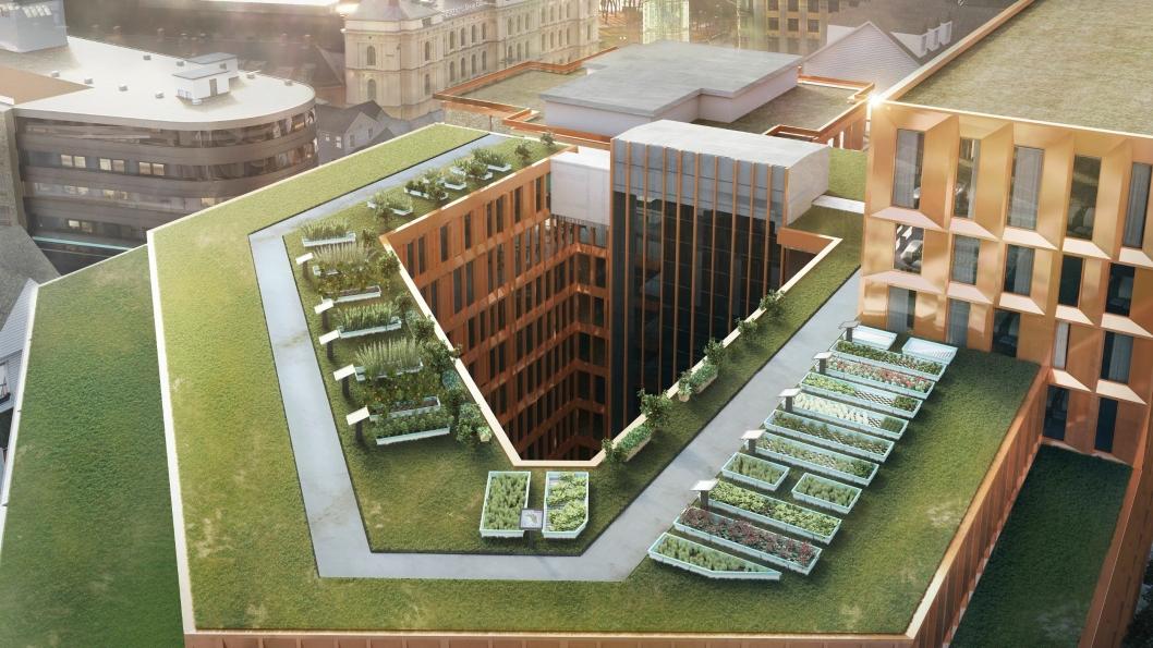 Clarion Hotel The Hub på Jernbanetorget i Oslo har skal ha matproduksjon på taket fra 2019.