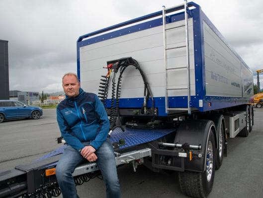 INTERESSE: Arild Frøseth har fått mange henvendelser etter det ble kjent at de skulle ta i bruk modulvogntog.