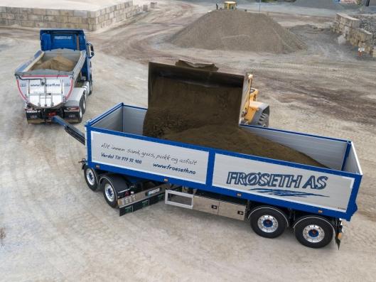 NYTTELASS: 25,4 tonn kan Frøseth AS laste på den nye modulhengeren.