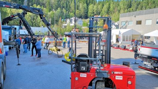 Hiab Norway viste alle sine produkter på eget område på Hagan ved riksvei 4 på grensen til Oslo 30. og 31. august 2018.
