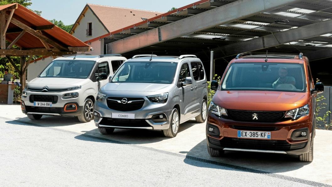 KANDIDAT: PSA - Peugeot Partner/Citroën Berlingo/Opel Combo: Dette er første gangen Opel samarbeider med sin nye eier, PSA, om en bilmodell. Bilene er helt nye, og bygger på den standardiserte EMP2-plattformen - som de fleste modellene fra den franske produsenten bygges på.
