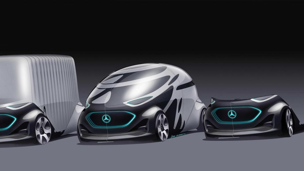 SMART: «Urbanetic» er selvkjørende, el-drevne chassis som kan svitsje påbygg etter behov. Som bildelings-kjøretøy har Urbanetic plass til 12 passasjerer.