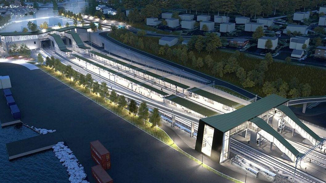 Tilbyderne skal blant annet konkurrere om å bygge nye Moss stasjon.