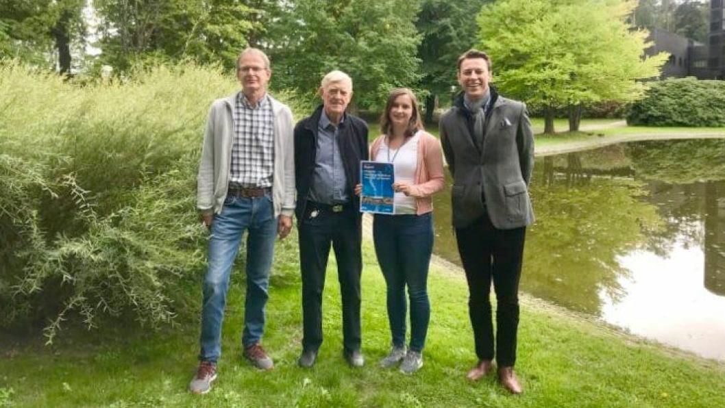 Norconsults fageksperter har utarbeidet en ny rapport for Norsk Vann. Fra venstre: Kjell L. Keseler (forfatter), Ivar Urke (forfatter), Mareike Anika Becker (medforfatter) og Gisle H. Fagerlid (oppdragsleder).