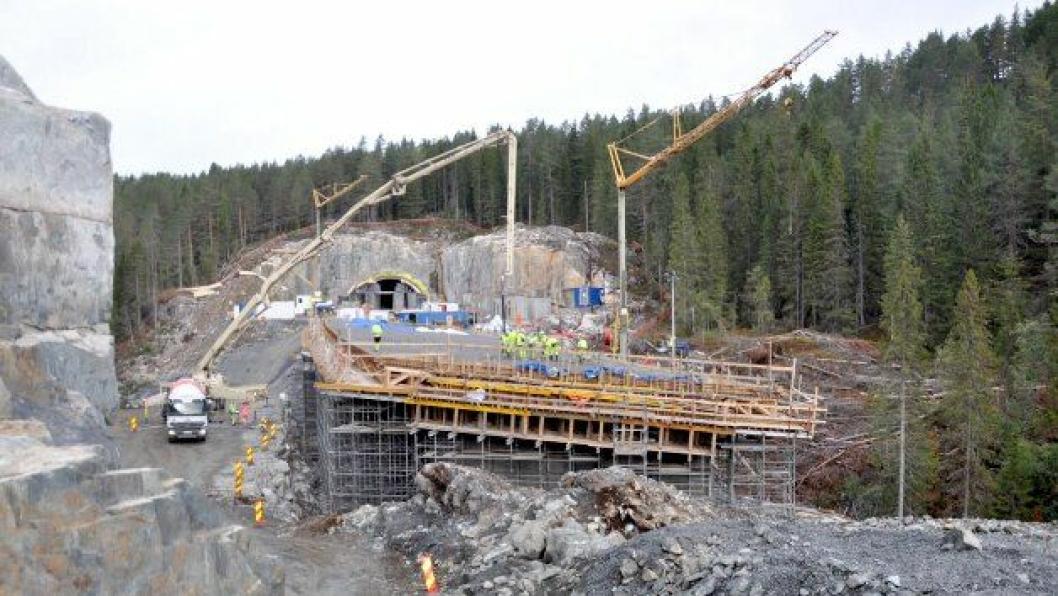 30 timers støp på Lassedalen bru.