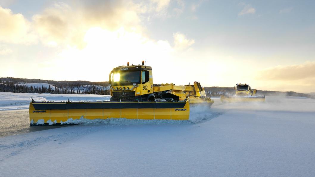 Slike selvkjørende  brøytebiler skal testes på Gardermoen vinteren 2018/2019.