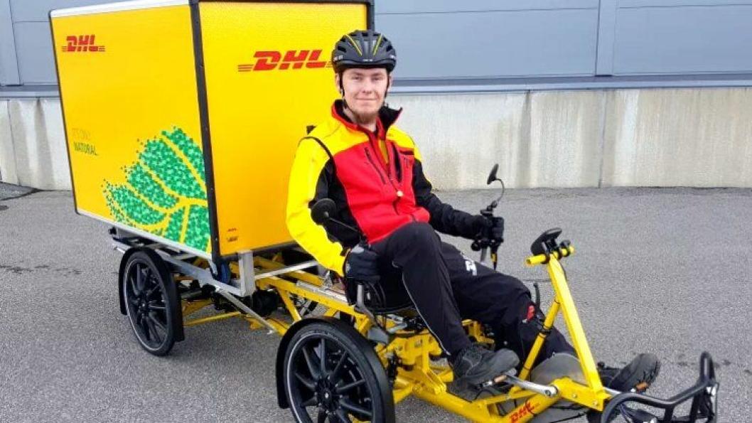 Ny har DHL startet sykkeldistribusjon i Kristiansand.