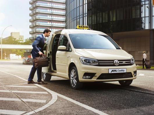 ABT e-Caddy kommer både som varebil og personbil. Den skal også kunne brukes som drosjebil.