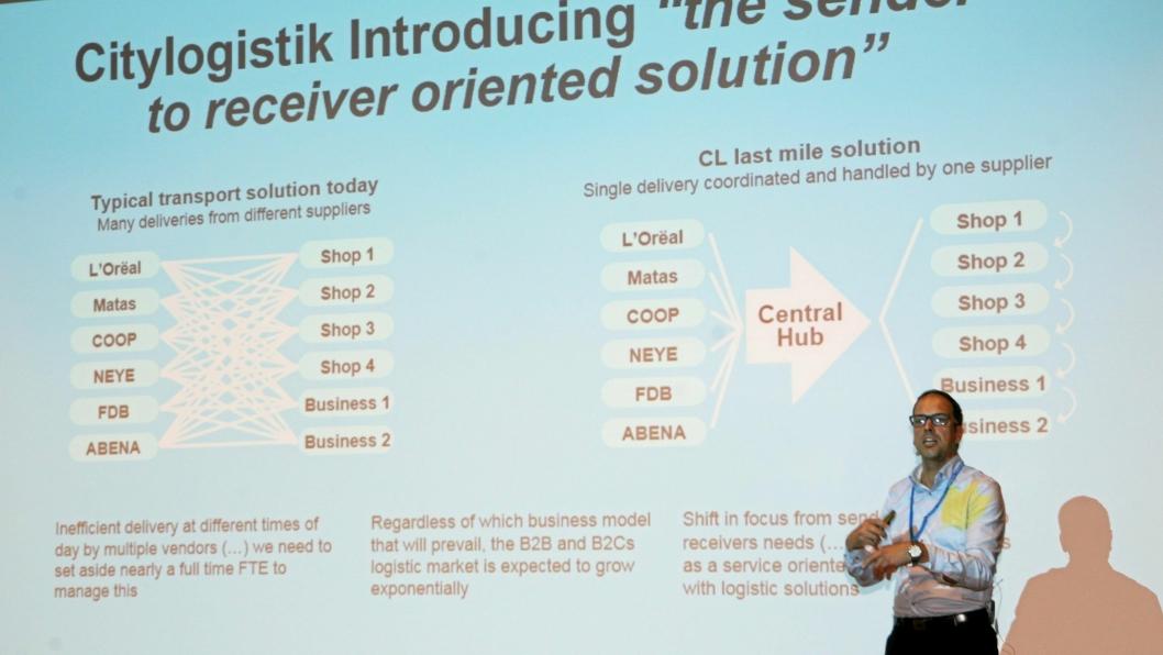 Citylogistik ruller ut i Norge, forteller det danske selskapets styrelder, Casper Svensson. Foto: Per Dagfinn Wolden