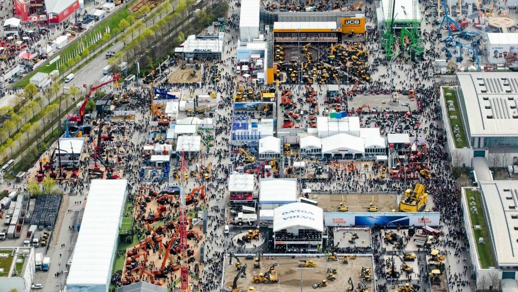 Slik så det ut forrige gang Bauma ble arrangert, i 2016.