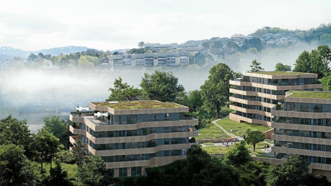 BOLIGER: Veidekke Steinsviken utenfor Bergen. Illustrasjonsbilde.Foto: Veidekke