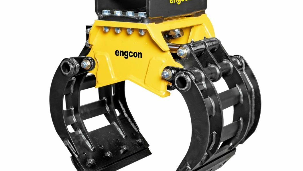 Den nye sorteringsgripen Engcon SK02 veier litt over 100 kg, noe som gjør den spesielt tilpasset for små gravemaskiner på 1,5 – 3 tonn.