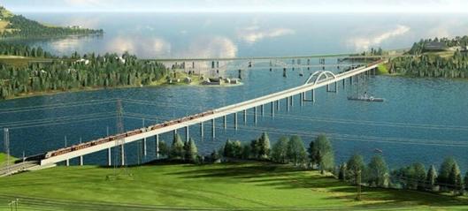 Tre konkurrerer om å bygge 836 m lang bru