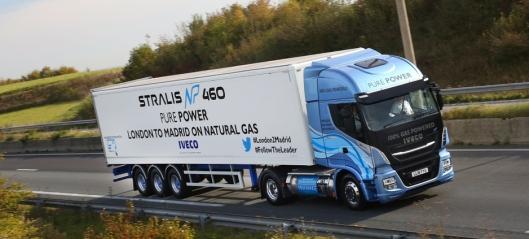 - Rekordlang kjørestrekning på en LNG-fylling