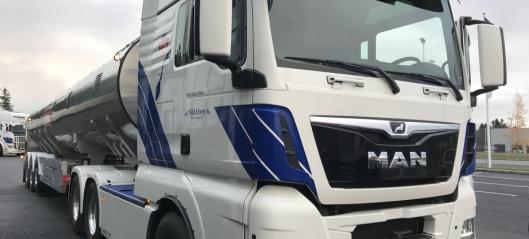 Melke-trekkvogn med drift på forhjulene