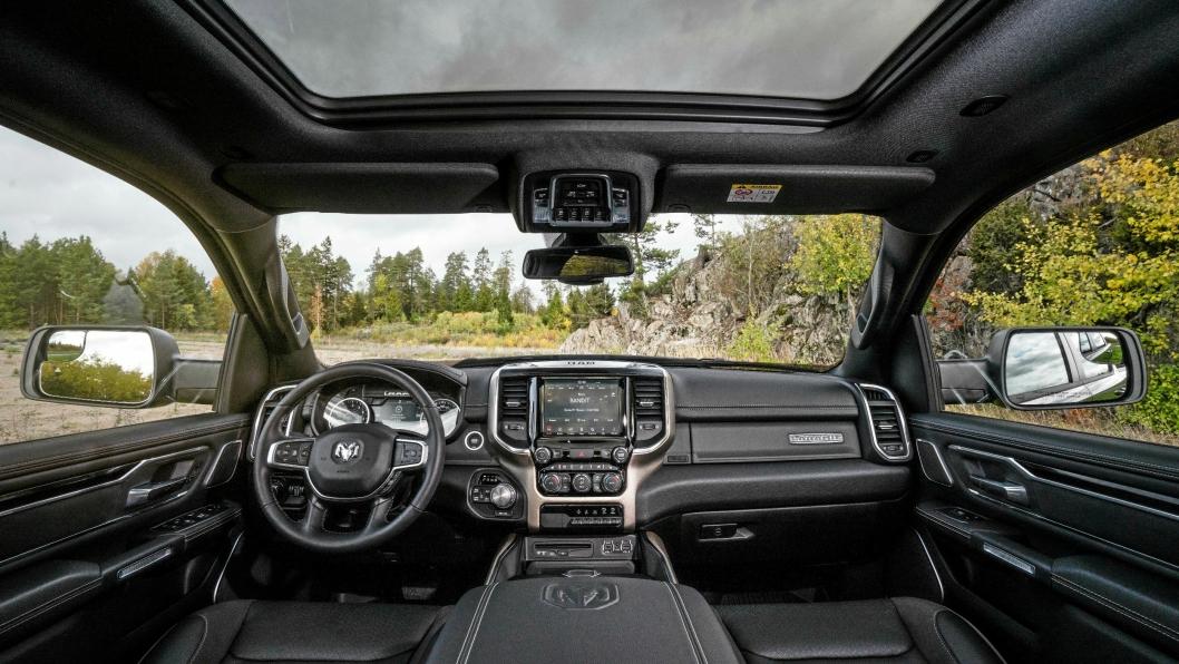 RAM 1500 leveres i fire utstyrsnivåer og har et utstyrsnivå som kan konkurrere med de fleste SUV-er på markedet.