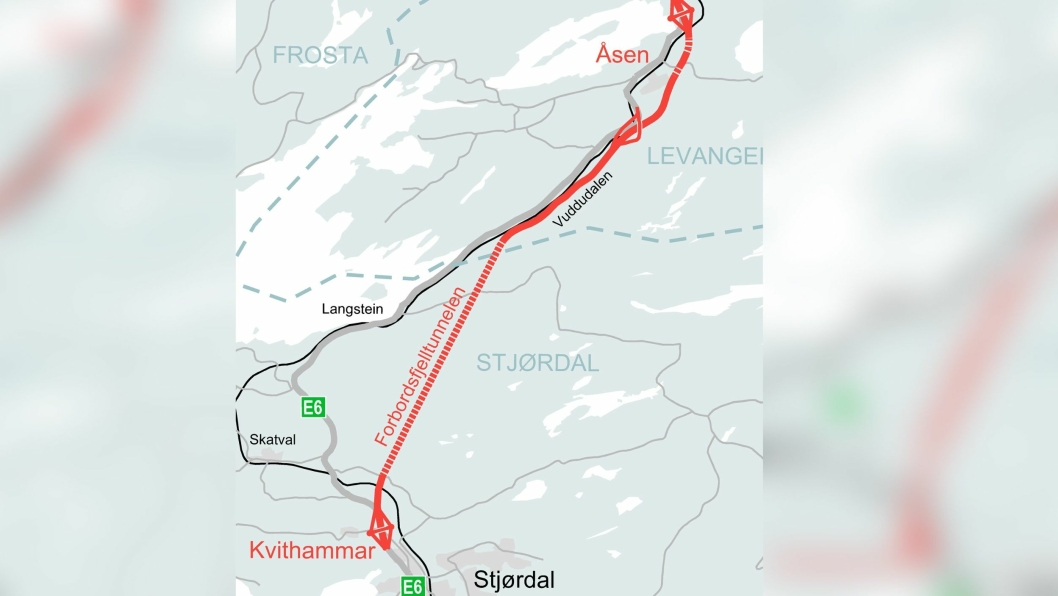 E6 Kvithammar - Åsen i Trøndelag.