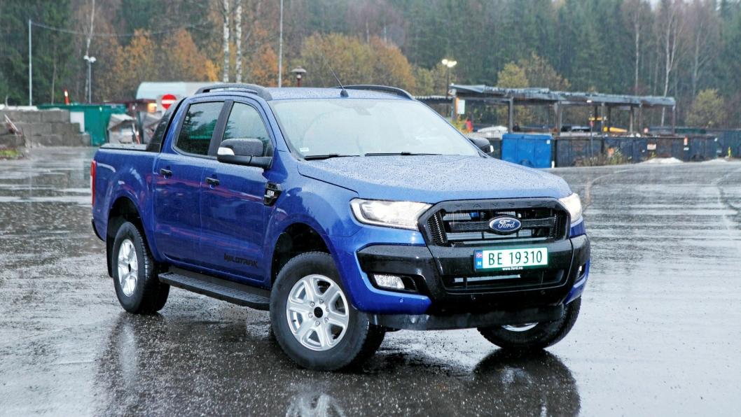 BLÅ OG TØFF: Ford slipper Ranger Wildtrack X, en oppjazzet versjon i begrenset utgave.