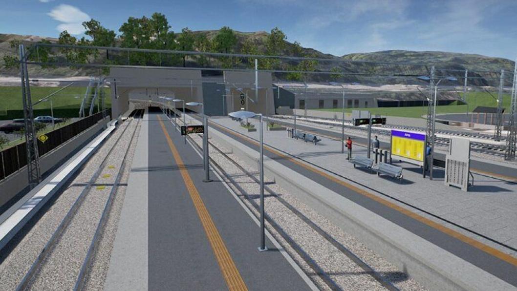 Arna stasjon: Jernbaneteknisk arbeid på stasjonen inngår i kontrakten som nå er tildelt.