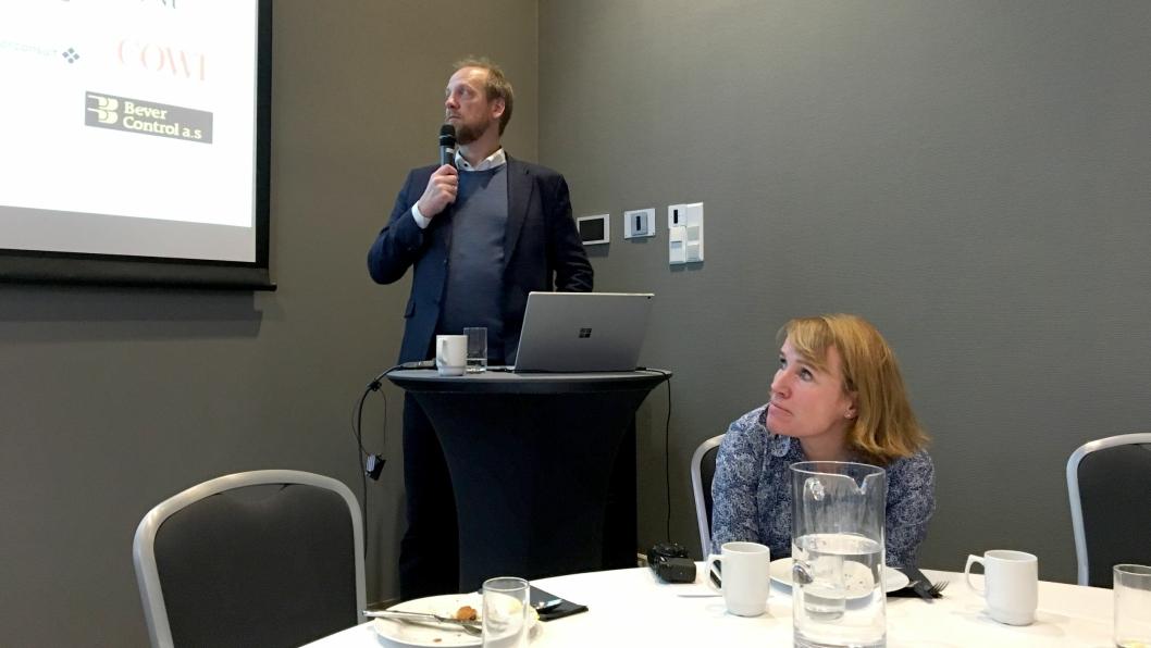 Styreleder i NFF Øyvind Engelstad presenterte tallene på Fokostmøtet før den offisielle åpningen av Fjellsprengningsdagen. Tone Nakstad, generalsekretær i NFF har vært med på å fremskaffe tallene.