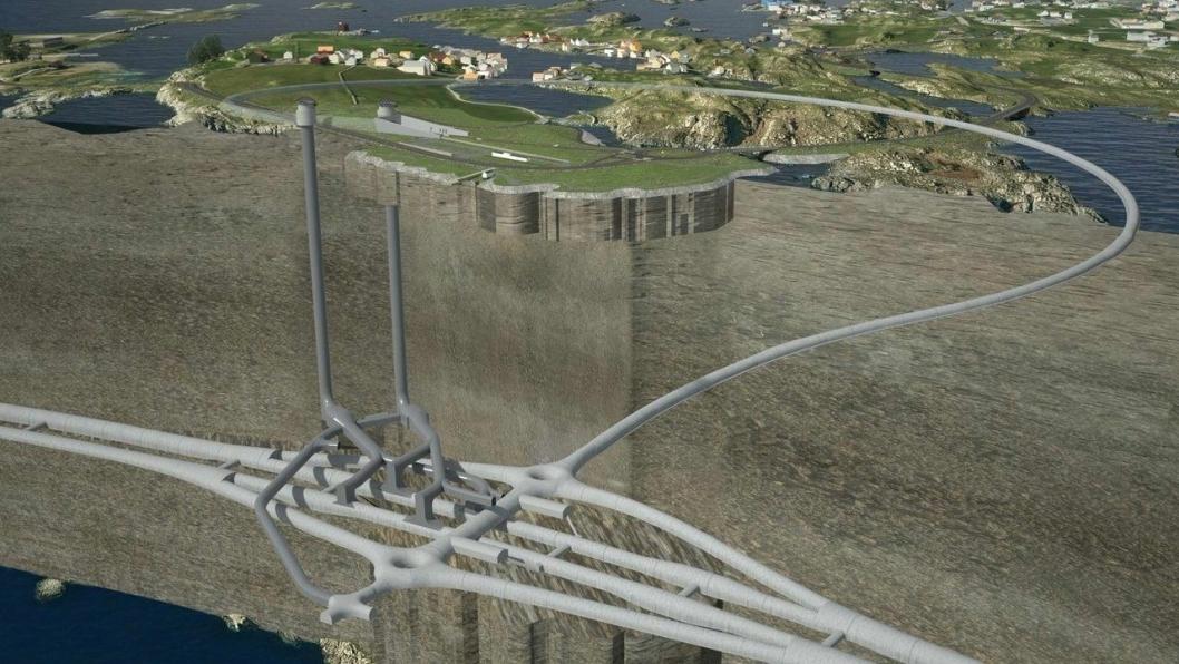 Tunnelsystemet som skal bygget ved Kvitsøy på E39 Rogfast.