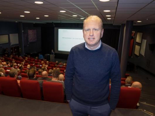 SNARTUR: Scanias toppsjef Henrik Henriksson var tilfeldigvis i Oslo og snakket til deltagerne på Scanias miljøkonferanse 27. november 2018 i Felix konferansesenter.