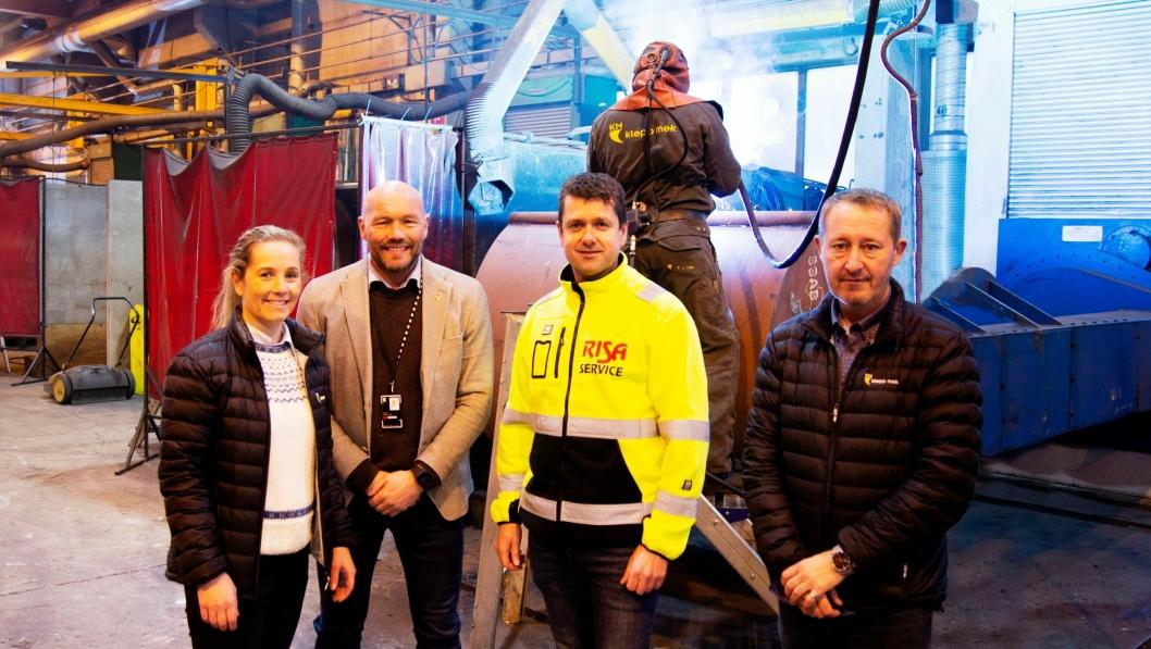 Klepp Mek på Jæren skal levere hurtigfestene og skuffene til de nye Volvo-maskinene som Risa Service har bestilt.