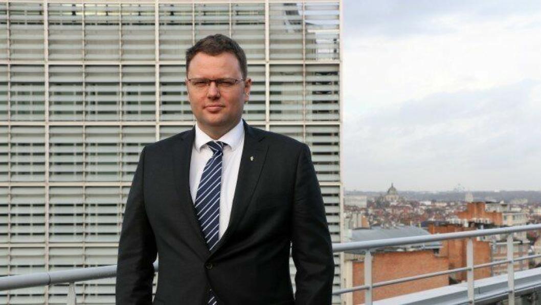 Statssekretær Brage Baklien i Brussel (Foto: Samferdselsdepartementet)