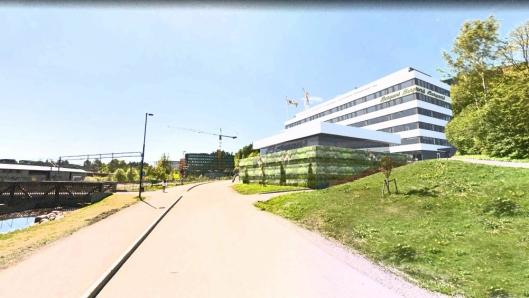 BERGANS TIL ASKER: Slik ser Holtefjell Eiendom for seg Hagaløkkveien 13 i Asker etter totalrenovering og innflytting av hovedleietaker Bergans Fritid AS.