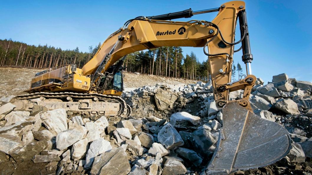K.A. Aurstad er konkurs, hovedsakelig på grunn av store tap på et E6-prosjekt i Trøndelag. Bildet er fra et annet prosjekt, bygging av E6 i Kvam i Gudbrandsdalen.