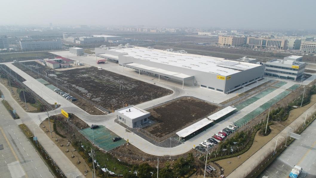 STORT ANLEGG: Oversiktsbildet viser plasseringen av Wacker Neuson-anlegget i Pinghu.